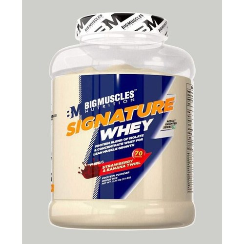MastMart Bigmuscles Nutrition Signature Whey Protein Strawberry Banana Twirl 5lbs