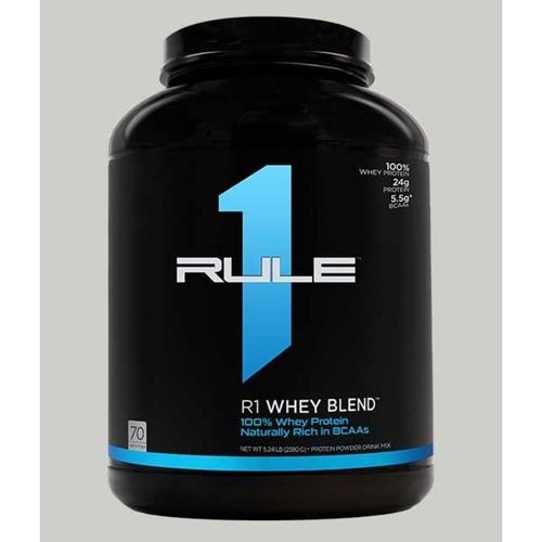 WellnessMart Rule 1 Whey Blend Protein Salted Caramel 5 lbs