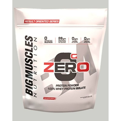 MastMart Bigmuscles Nutrition ZERO Protein Powder from 100 Whey Isolate Rich Chocolate 9 lbs