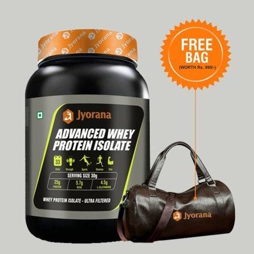 WellnessMart Jyorana Advanced Whey Protein Isolate with Free Sports Bag - 1Kg