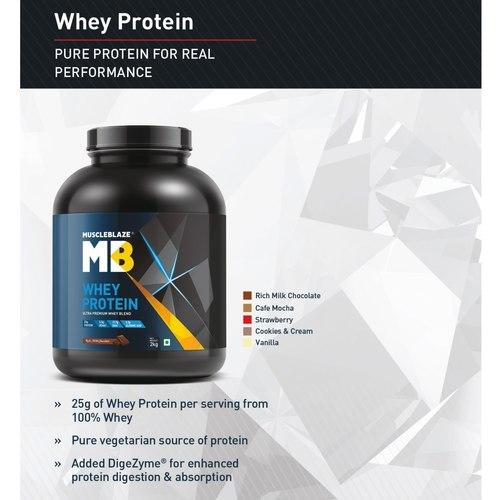 MastMart MucscleBlaze Whey Protein, 4 Kg Rich Milk Chocolate