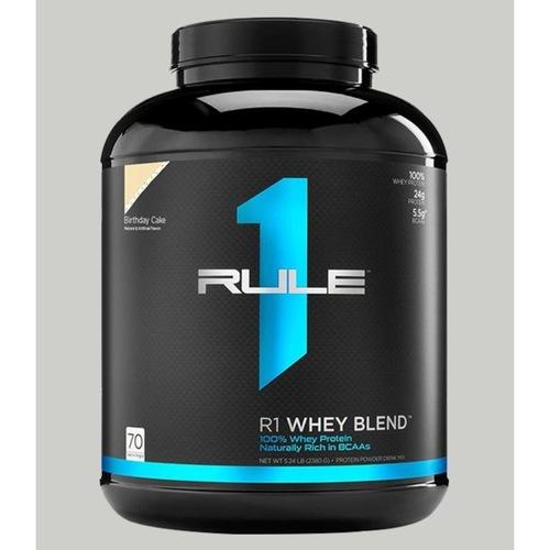 WellnessMart Rule 1 Whey Blend Protein Birthday Cake 5 lbs