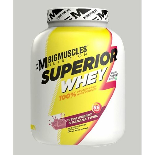 Bigmuscles Nutrition Superior Whey Protein Strawberry & Banana Twirl 4.4 lbs