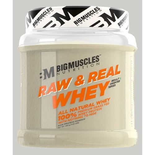 MastMart Bigmuscles Nutrition Raw & Real Whey Protein Unflavoured 480 gm