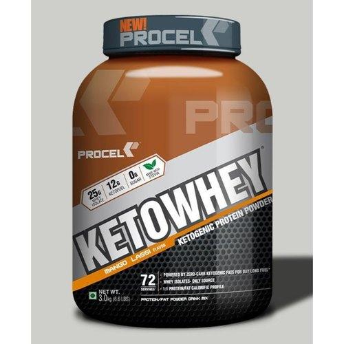 MastMart PROCEL KETOWHEY Ketogenic Protein Powder with Ketofuel, 200g -Trail Pack  Mango Lassi