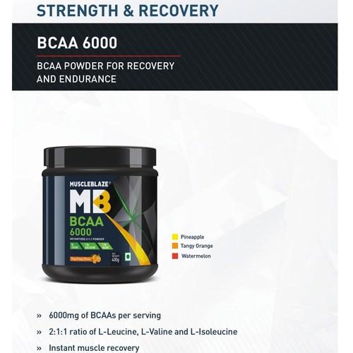 MastMart MuscleBlaze BCAA 6000, 400 g Tangy Orange  50 Servings