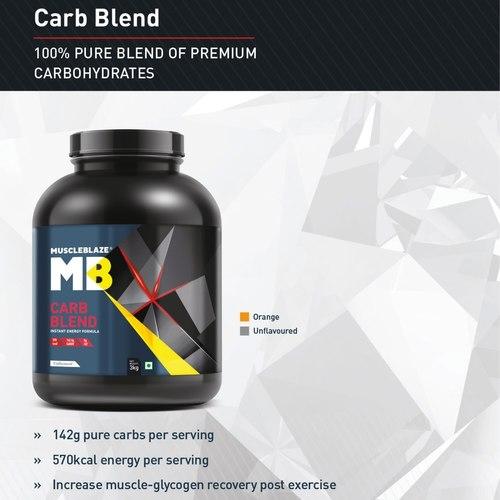 MuscleBlaze Carb Blend, 3 Kg Orange