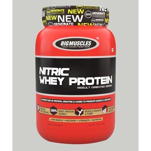 MastMart Bigmuscles Nutrition Nitric Whey Protein Strawberry Banana Twirl 900 gm
