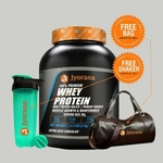 WellnessMart Jyorana 100 Whey protein with Isolate with Free Sports Bag and Shaker Bottle - 2 Kg