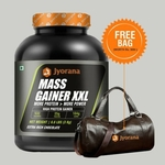 Jyorana Mass Gainer Extra Rich Chocolate Flavor with Free Sports Bag - 3 Kg