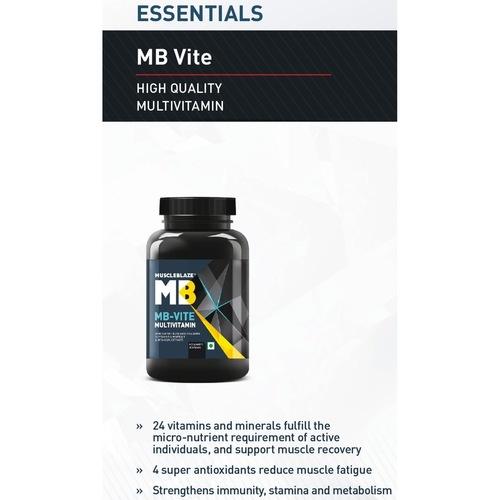 MastMart MuscleBlaze MB-VITE Multivitamin, Unflavoured 120 tablets