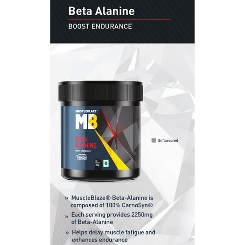 MastMart MuscleBlaze Beta Alanine, 0.1 Kg Unflavoured