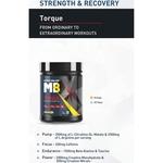 MastMart MuscleBlaze Torque Pre-Workout 30 Servings, 0.45 Kg Icy Blue Splash