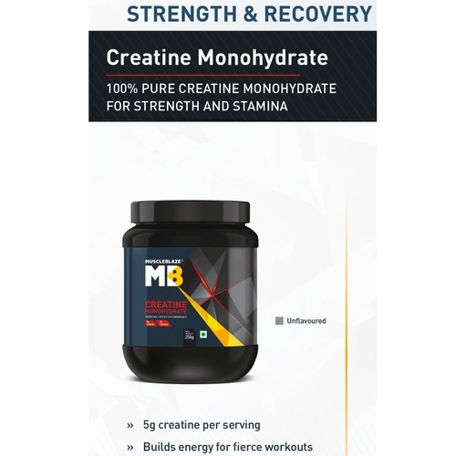 MuscleBlaze Micronized Creatine, Unflavoured New 0.25 Kg