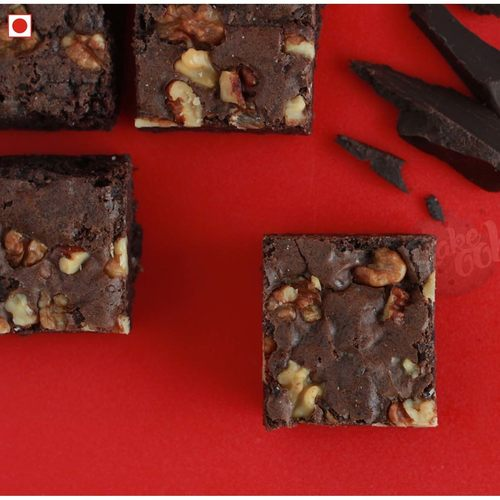 DOUBLE CHOCOLATE WALNUT BROWNIES PACK OF 6