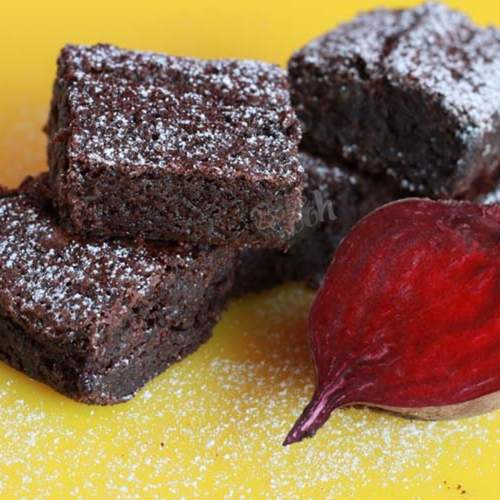 EGGLESS RAGI BEETROOT CHOCOLATE BROWNIES PACK OF 6