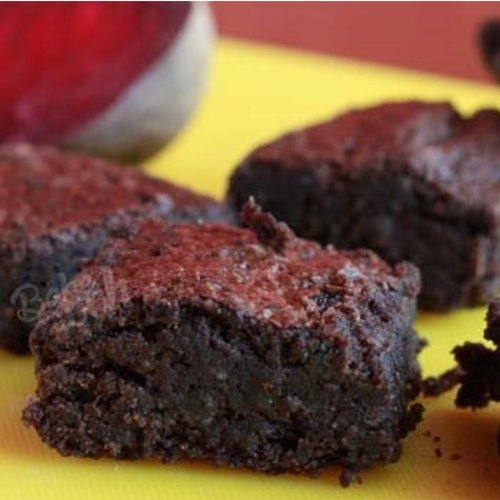 EGGLESS & SUGARLESS RAGI BEETROOT CHOCOLATE BROWNIES [MADE WITH PALM JAGGERY] (PACK OF 6)