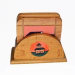 Tea coaster set with house paintings