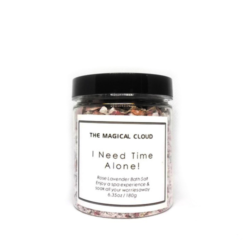 I Need Time Alone Rose Lavender Bath Salt