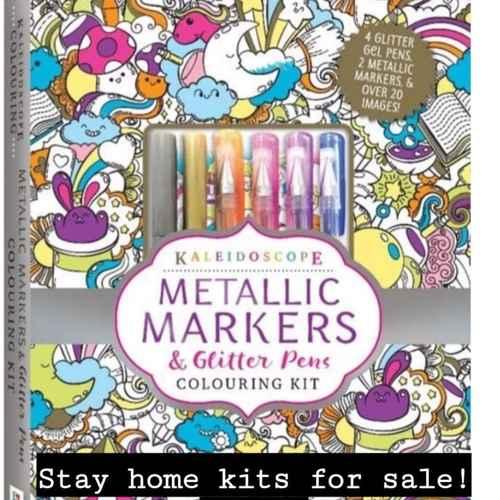 Kaleidoscope Metallic & Glitter Pens Colouring Kit